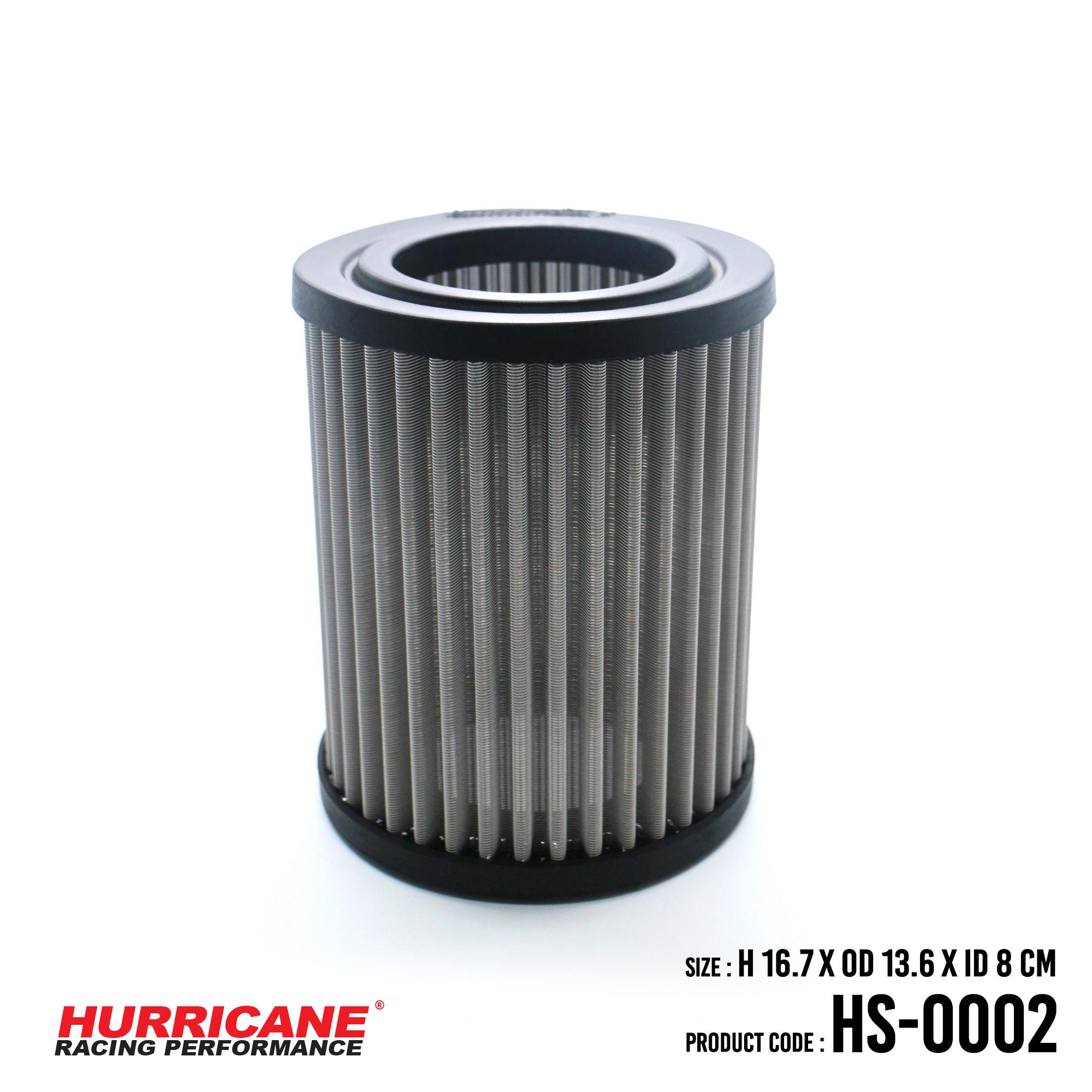 HURRICANE STAINLESS STEEL AIR FILTER FOR HS-0002 AcuraAlfaHonda