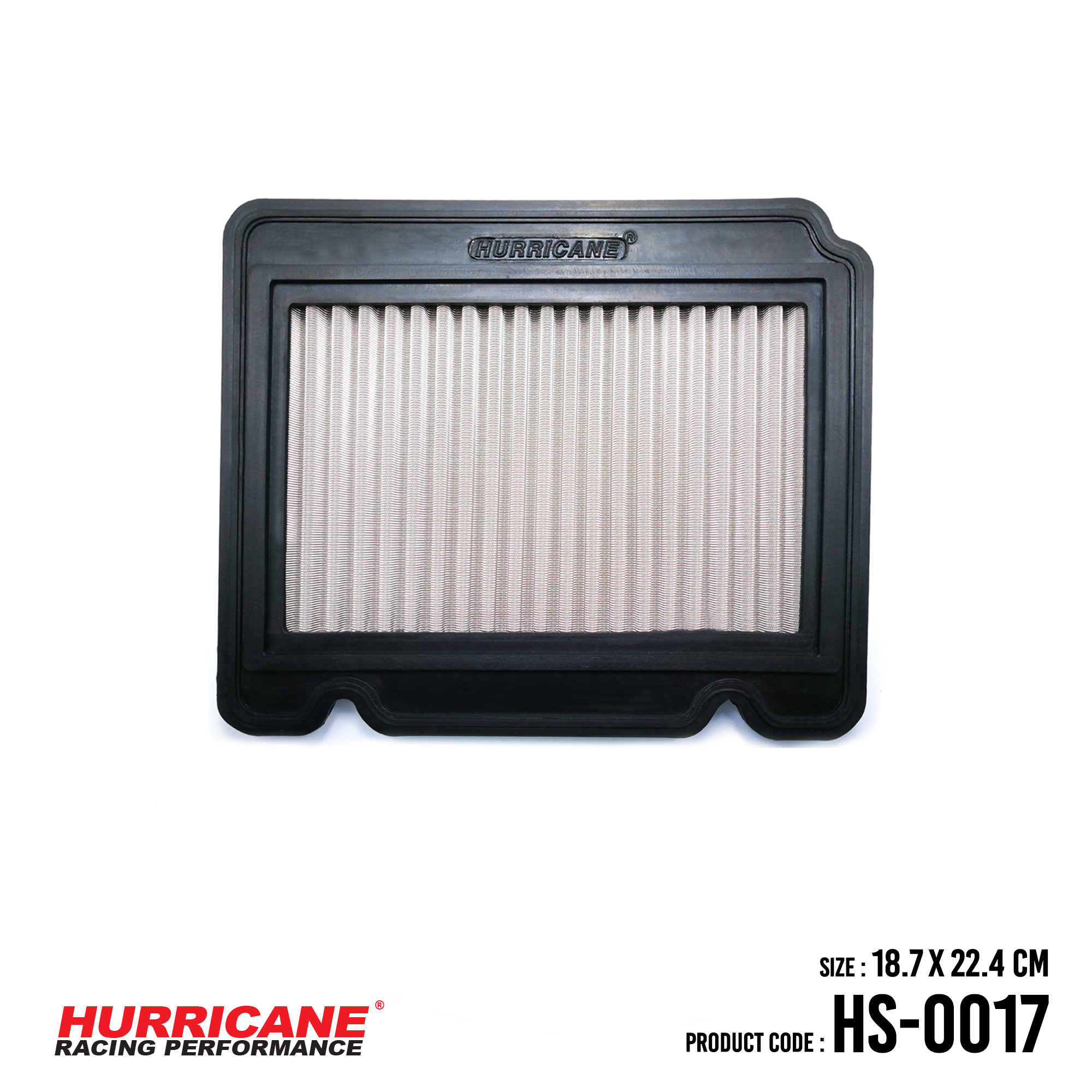 HURRICANE STAINLESS STEEL AIR FILTER FOR HS-0017 ChevroletDaewooPontiac