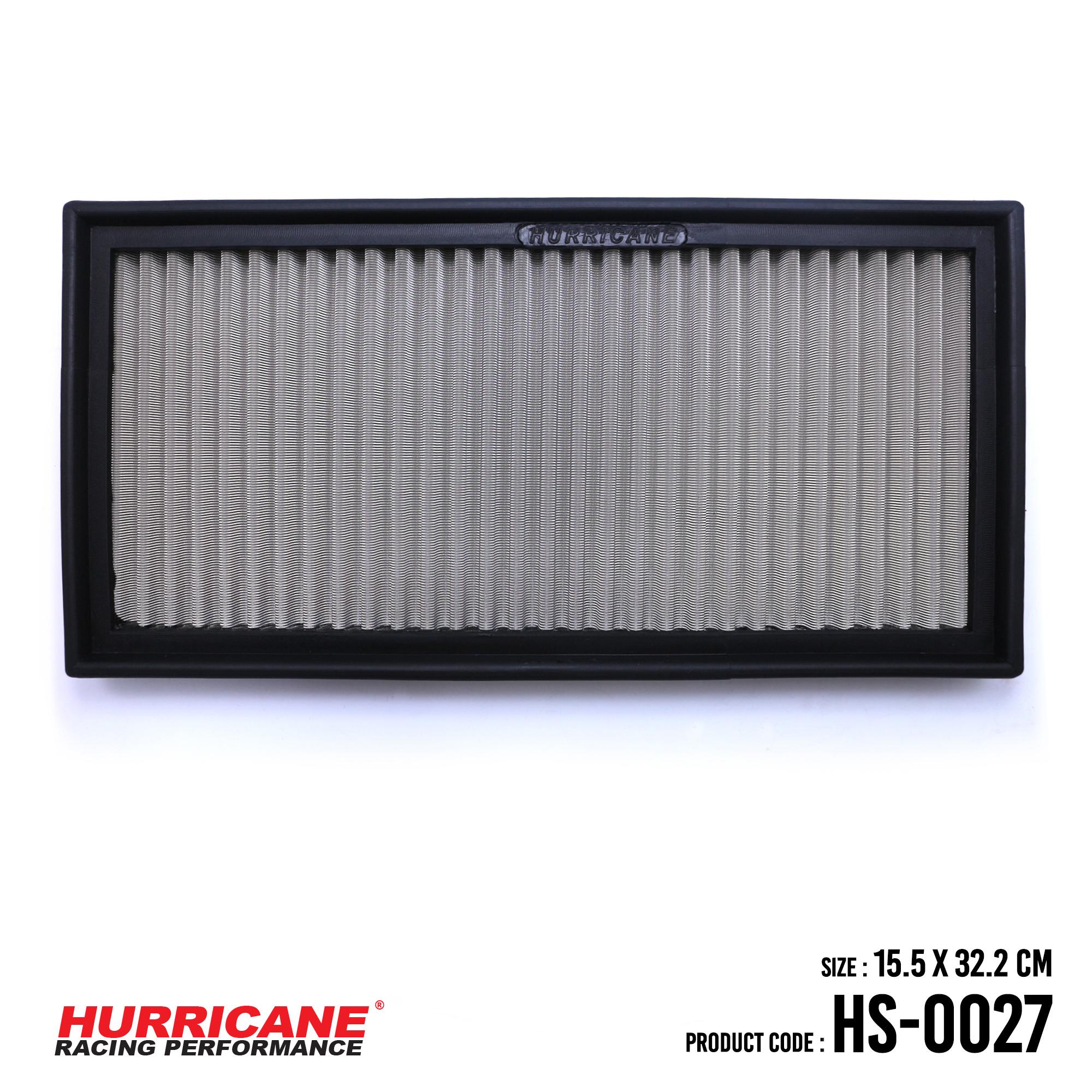 HURRICANE STAINLESS STEEL AIR FILTER FOR HS-0027 CitroenFiatLanciaPeugeot