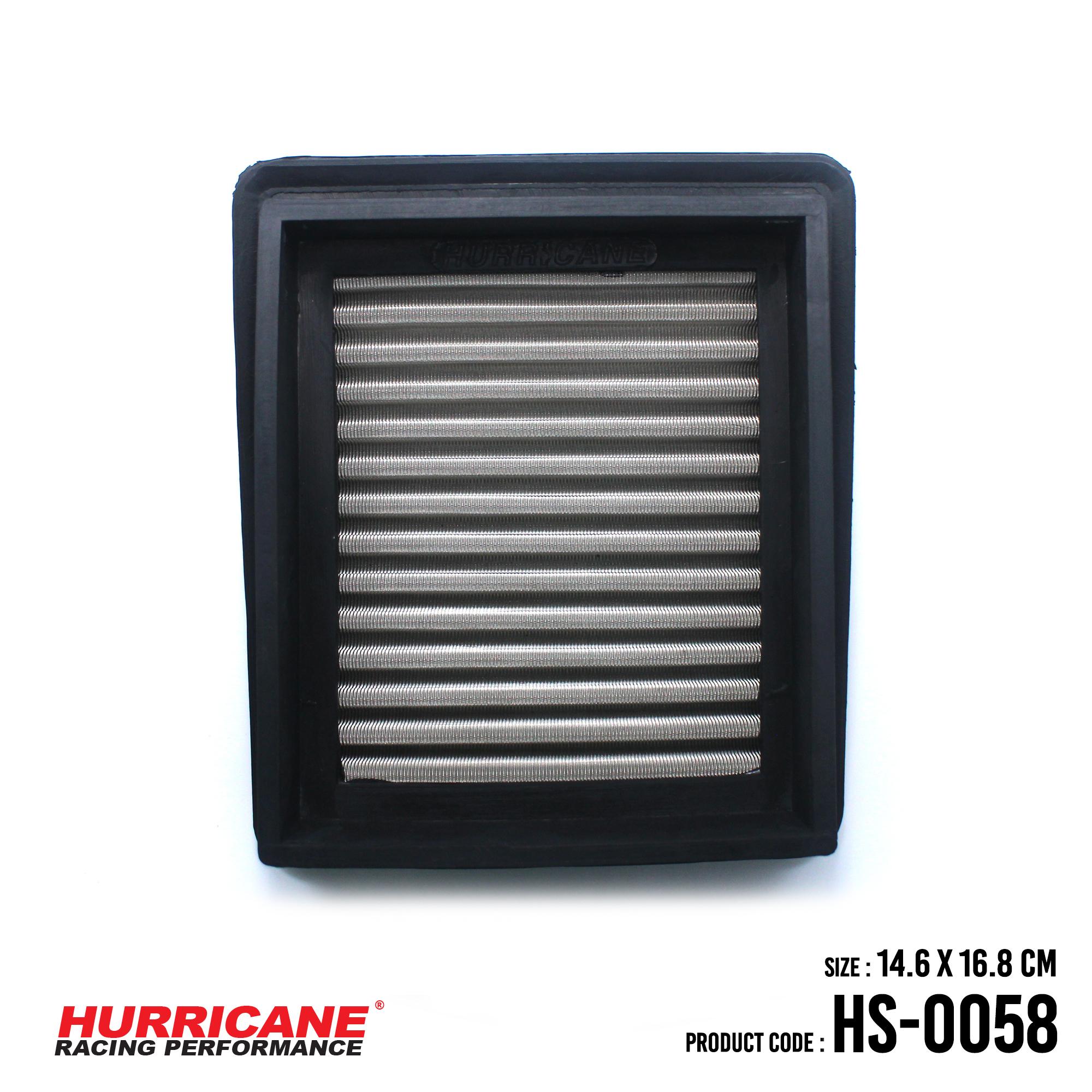 HURRICANE STAINLESS STEEL AIR FILTER FOR HS-0058 Honda