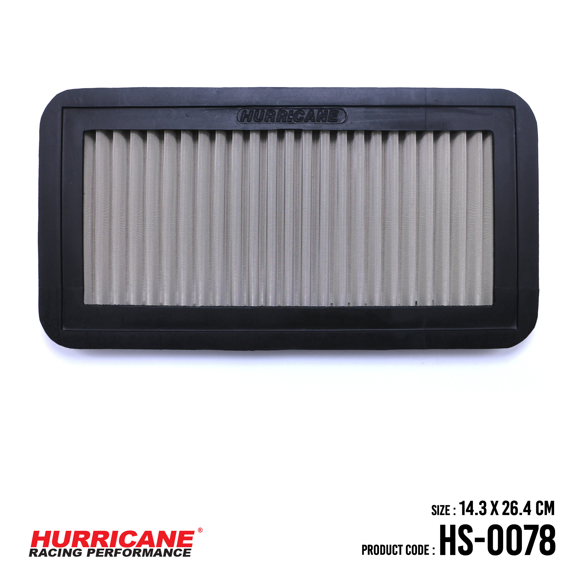 HURRICANE STAINLESS STEEL AIR FILTER FOR HS-0078 Kia