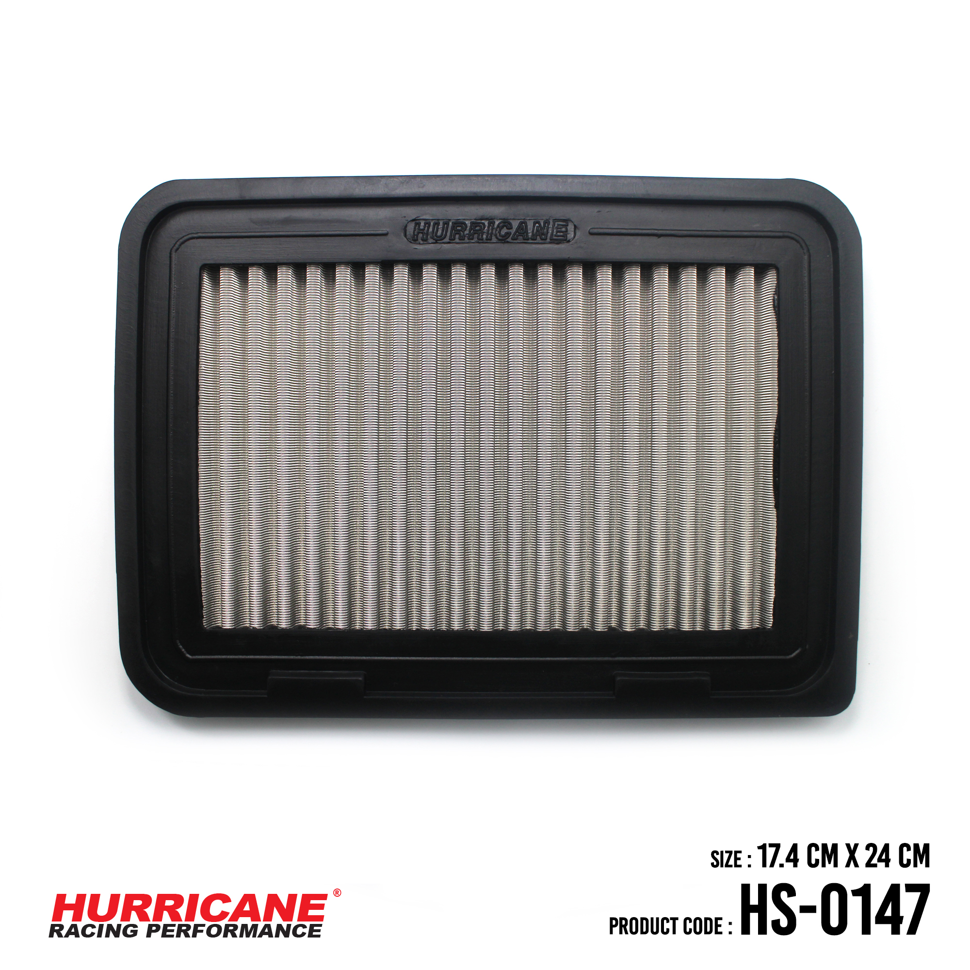 HURRICANE STAINLESS STEEL AIR FILTER FOR HS-0147 PontiacScionToyota