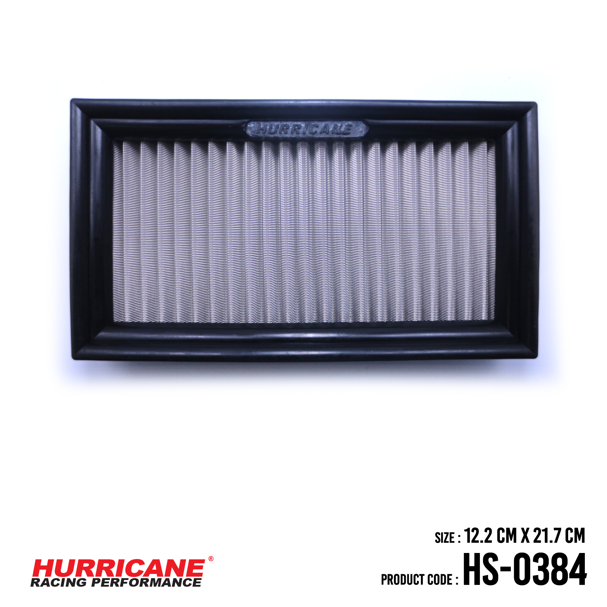 HURRICANE STAINLESS STEEL AIR FILTER FOR HS-0384 PeroduaToyota