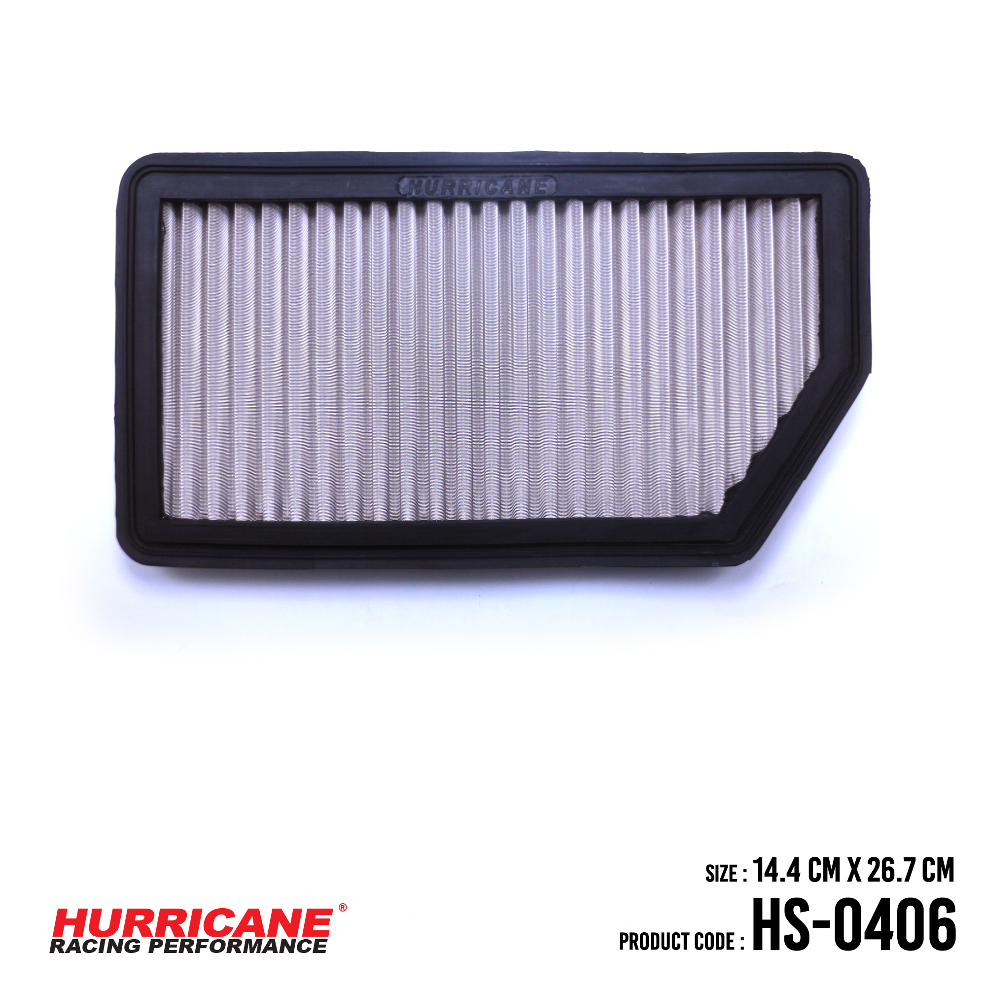 HURRICANE STAINLESS STEEL AIR FILTER FOR HS-0406 Kia