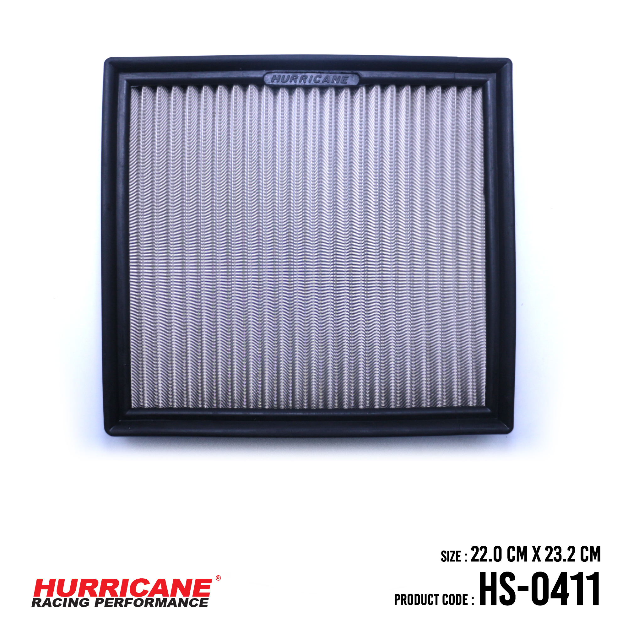 HURRICANE STAINLESS STEEL AIR FILTER FOR HS-0411 Subaru
