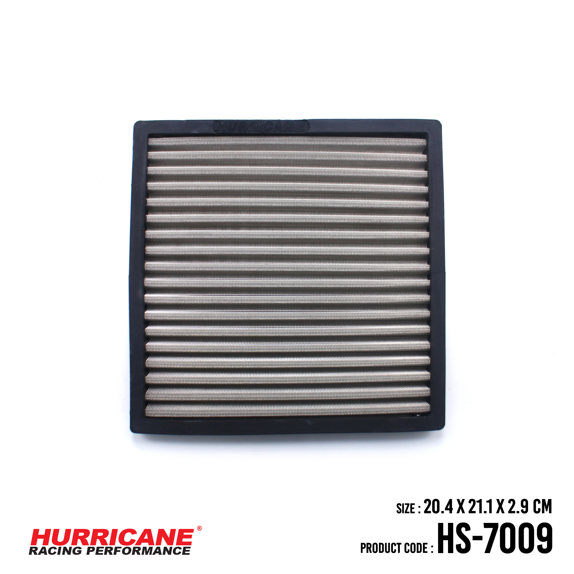 HURRICANE STAINLESS STEEL CABIN AIR FILTER FOR HS-7009 Mitsubishi